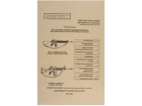Army Air Force Technical Manual Colt Ar 15 M 16 Manual By