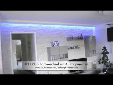 led wohnungsbeleuchtung indirekte led rgb beleuchtung aus gkb formteilen www