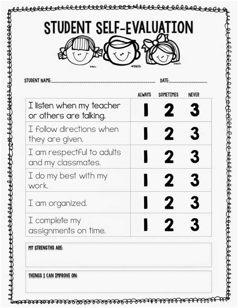 student self evaluation form staruptalent