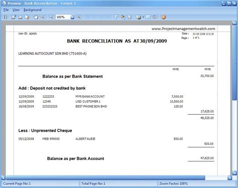 download bank reconciliation statement excel template exceldatapro