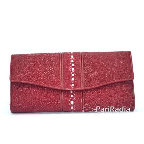 Dompet Wanita Kulit Pari Mix Dengan Kulit Python Model Kipas dompet wanita kulit ikan pari besar duri warna dasar