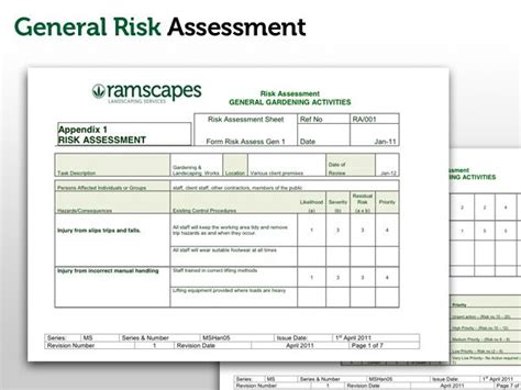 scaffolding risk assessment template landscape gardening risk assessment gardening forum network
