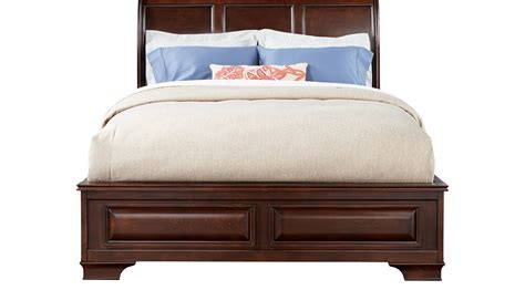 sleigh beds queen mill valley ii cherry 3 pc queen sleigh bed traditional