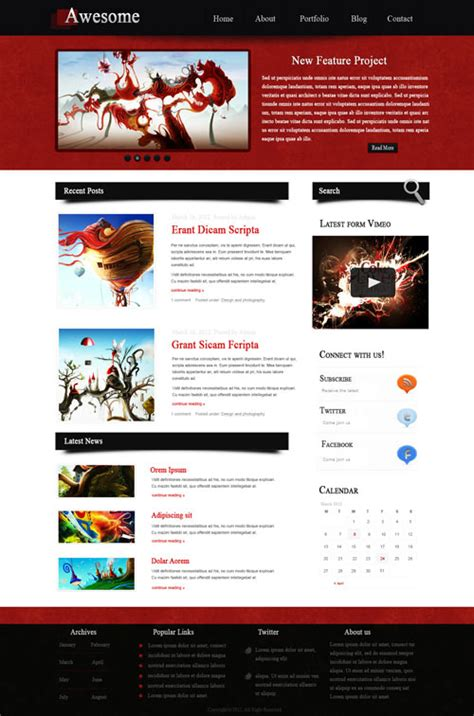 how to layout web design a new collection of photoshop web design tutorials naldz