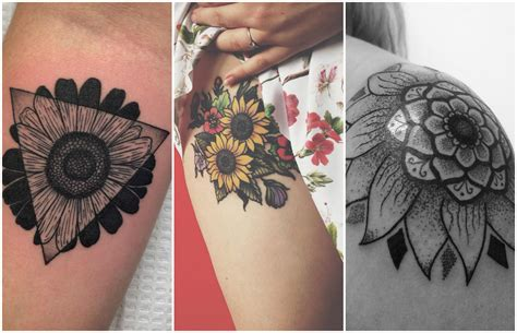 imagenes de tatuajes de girasoles 191 eres mujer leo estos 17 tatuajes con la flor de tu signo