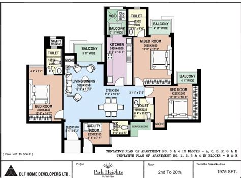 Park Place Floor Plans | dlf park place floor plan