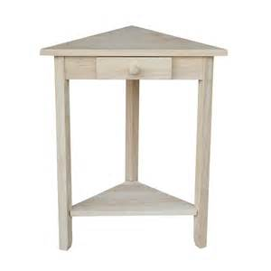 Corner Side Table International Concepts Ot 95 Corner Accent Table Atg Stores