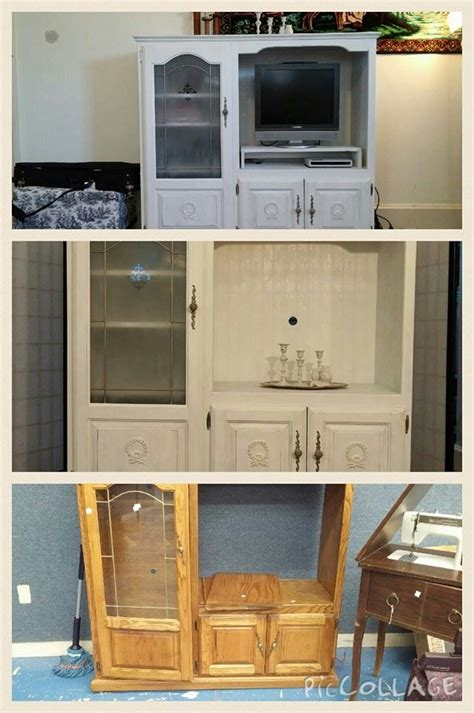 Shabby Chic Entertainment Center 5676 by Entertainment Center Gets A Makeover With Shabby Chic