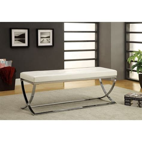 living room benches coaster living room bench in white 501157