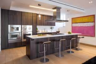 kitchen island breakfast bar art penthouse apartment in tribeca new york city