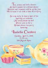 bridal shower tea invitation wording cimvitation