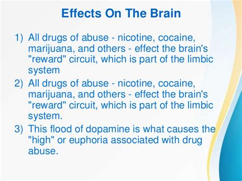 Effects Of Detox On The Brain by Effects Of Abuse And Addiction