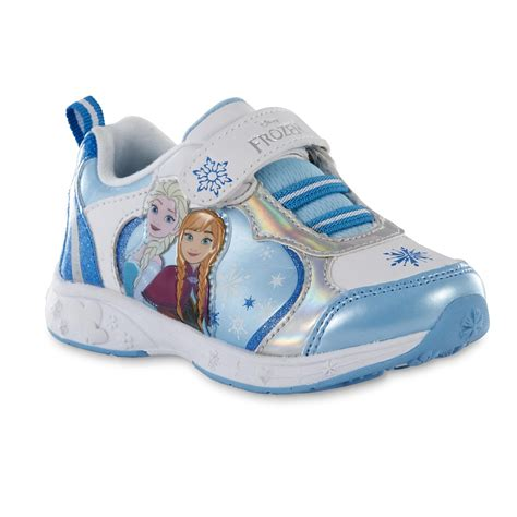 disney toddler frozen white blue silver athletic