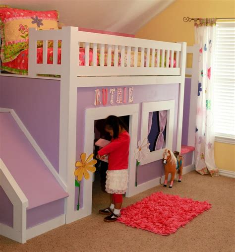 Slide Attachment For Bunk Bed Bunk Bed With Slide Espresso Low Loft Castle Loft Bed Playhouse Bed Princesses Low Loft
