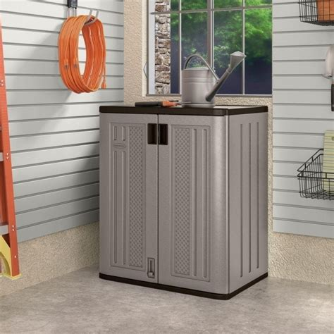 home depot outdoor storage cabinets outstanding suncast 30 in x 36 in 2 shelf resin base