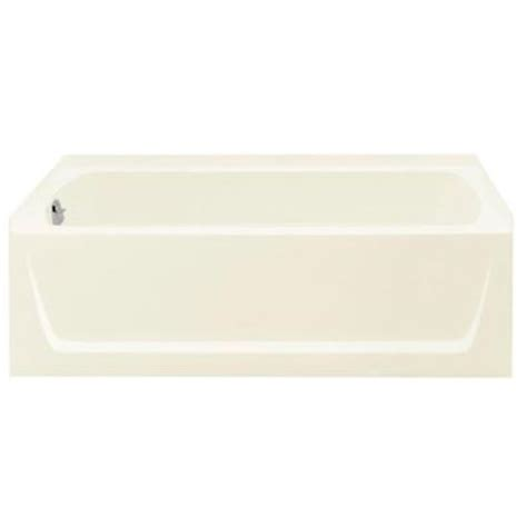 sterling ensemble bathtub ensemble 5 ft left hand drain vikrell bathtub in biscuit
