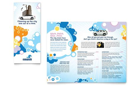 microsoft publisher tri fold brochure templates car wash tri fold brochure template word publisher
