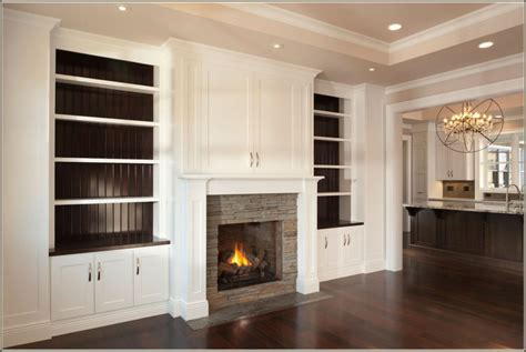 Built In Kitchen Cabinet Design by Home Design Custom Built In Cabis Around Fireplace Home
