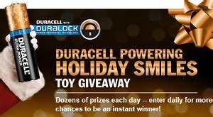 Duracell Giveaway - duracell power holiday smiles toy giveaway hunt4freebies