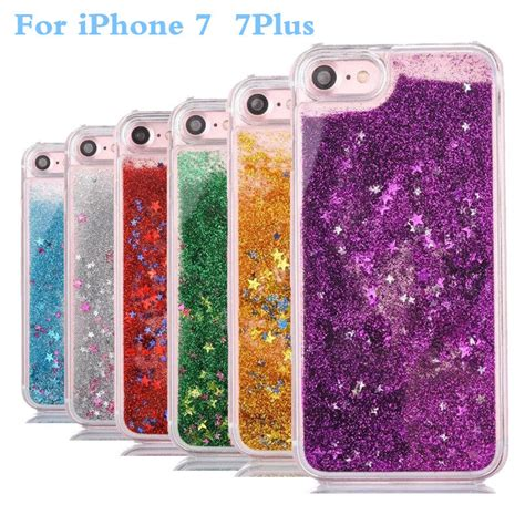Water Glitter Iphone 7 Plus sparkly floating liquid water bling glitter