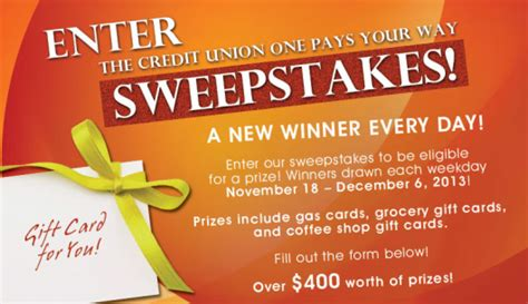 Sweepstakes Promotion - credit union s pay your way facebook fan appreciation sweepstakes