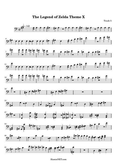 theme song zelda legend of zelda clarinet sheet music
