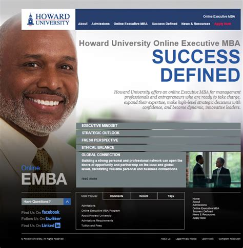 Howard Mba Fees by Howard Mba Network Howard