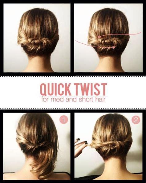 directions for easy updos for medium hair easy fast updo for short medium hair vanity instructions