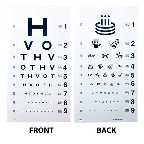 printable allen picture eye chart eye cards eye charts vision assessment amcon labs