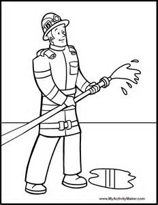 fireman hat coloring pages az coloring pages