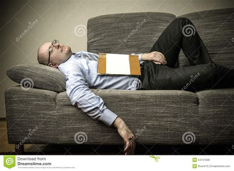 sleeping on a couch sleeping on the couch stock photo image 54757838