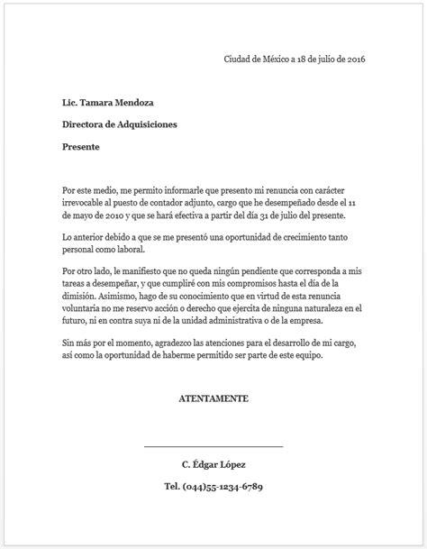 carta de agradecimiento formato word formato carta de renuncia mil formatos