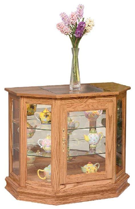 Amish Angled Small Curio Cabinet