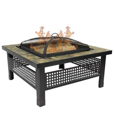 backyard creations fire pit backyard creations sienna 34 quot slate top fire pit at menards 174