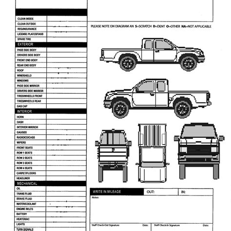 vehicle templates free printable vehicle inspection form gameshacksfree in