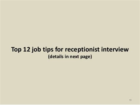 88 receptionist interview questions and answers