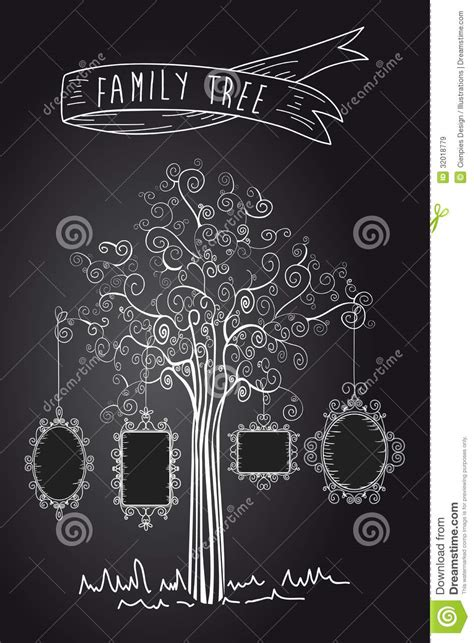 vintage family tree royalty free stock images image
