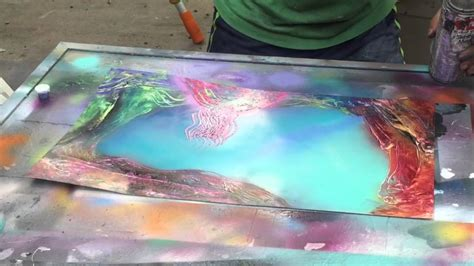 spray paint coral reefs spray paint live tutorial coral reef by ticasso