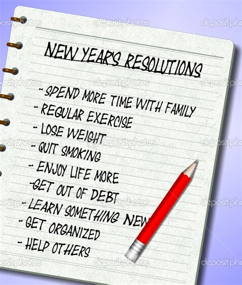 new year list new year s resolution you made any information