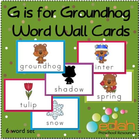 groundhog day phrase groundhog word wall set from edlah preschool resources on