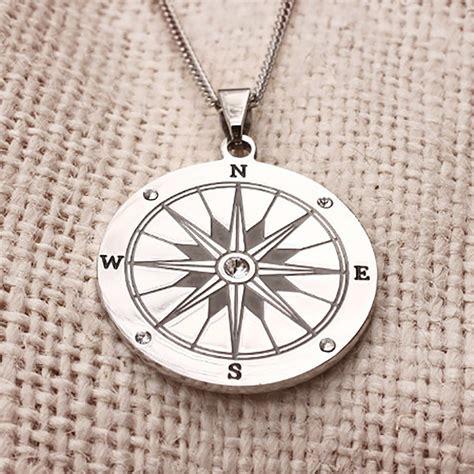 Compass Necklace engravable compass necklace s addiction 174