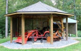 Wide Open Floor Plans Project Octagonal Tractor Shed