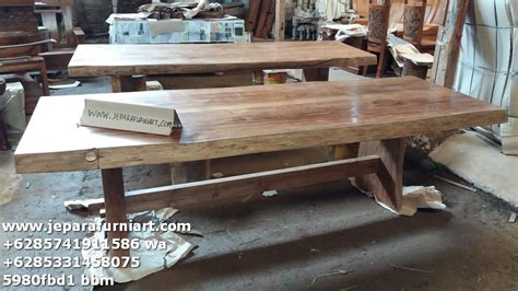 Papan Kayu Untuk Meja meja makan papan solid kayu jati wibowo gallery wibowo