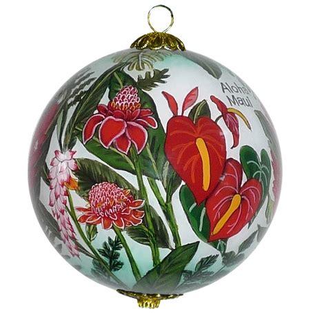 hawaiian designer christmas ornaments floral cornucopia hawaiian ornament by design