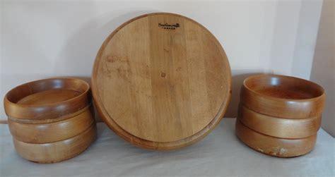 wooden canada 7 baribocraft salad wood wooden bowl set maple