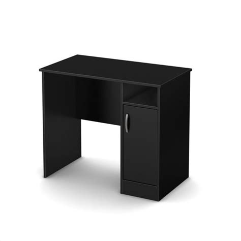 South Shore Axess Small Desk In Pure Black 7270075 Small Black Desk