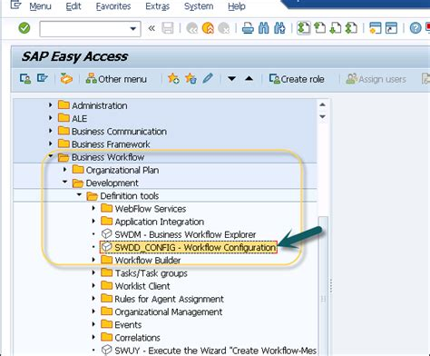 workflow configuration in sap sap business workflow workflow configuration