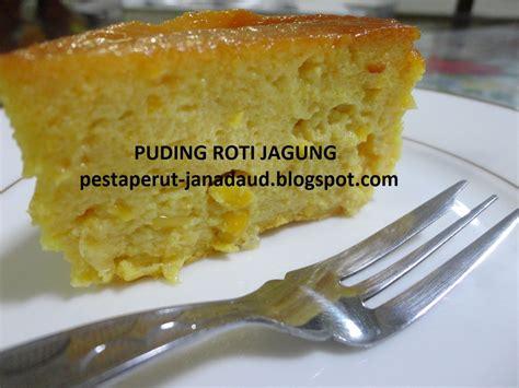 pesta perut puding roti jagung