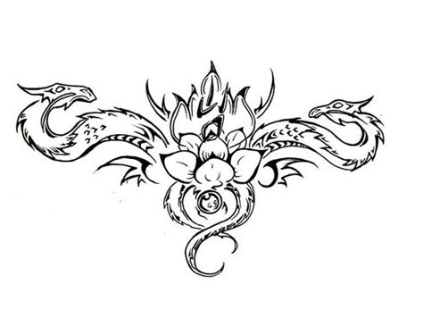 Tattoo Lotus Dragon   lotus flower tattoo designs lotus dragons tattoo design