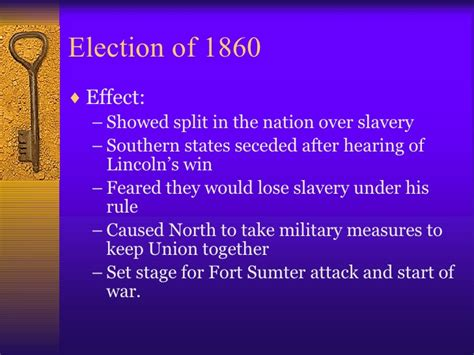 how did the election of 1860 increased sectional tensions causes of the civil war